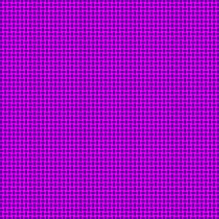 Pink Purple Woven Basketweave Background Abstract. Repeated braiding of horizontal and vertical stripes creates a basket weave woven pattern in purple on pink background. Stock Photo