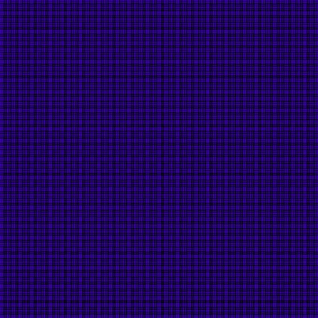 Repeated braiding of horizontal and vertical stripes creates a basket weave pattern with double and triple strands in blue purple on a black background. Banco de Imagens