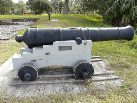 This cannon at Fort Frederica National Monument on St. Simons Island was used in the 1700s to guard against Spaniards attacking from Florida.