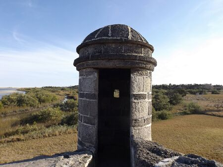 This last remaining Spanish watchtower in the country, a coquina stone fort
