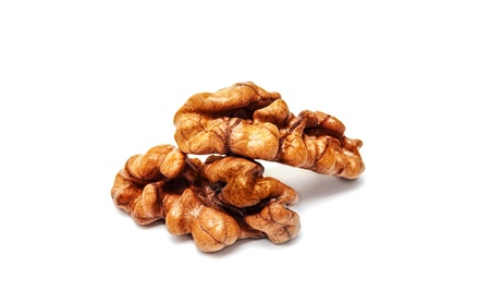Walnuts isolated on white photo