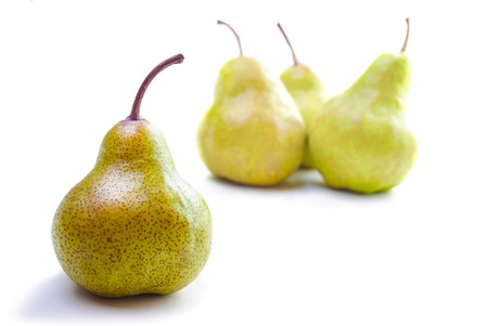 Four Pears isolated on a white background Stock Photo - 19596912