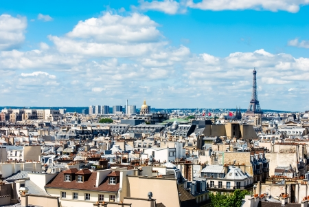 Eiffel Tower in the cityscape of Paris