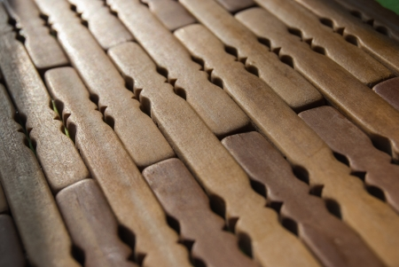 wooden mat on table, close up, background texture photo