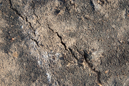Cracked lifeless soil drying under ardent sun, macro Stock Photo