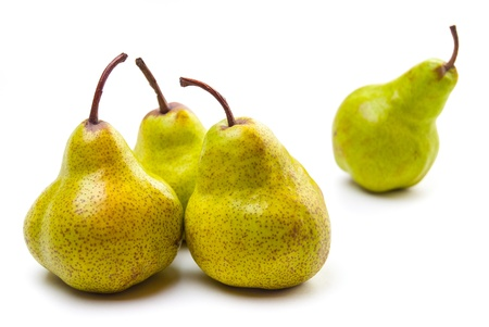Four Pears isolated on a white background Stock Photo - 20971965