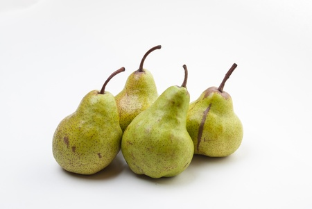 Four Pears isolated on a white background Stock Photo - 21589965