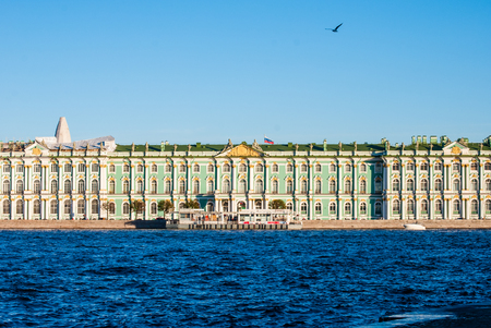 the Hermitage Museum and river Neva, Saint Petersburg, Russia
