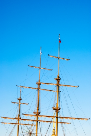 masts of an old ship photo