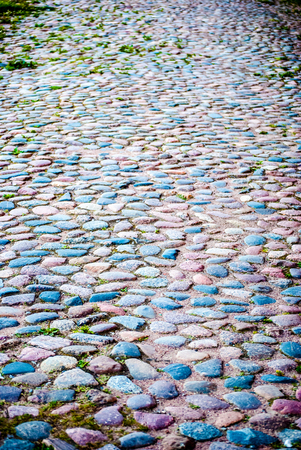 cobbled roadway photo