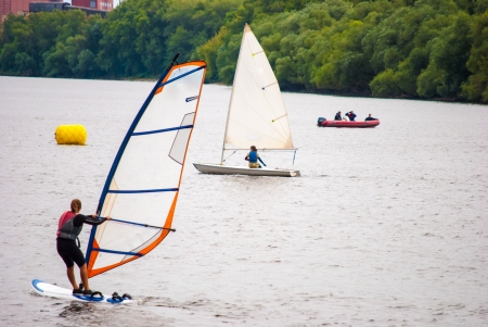 sailing sport on a lake