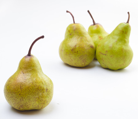 Four Pears isolated on a white background Stock Photo - 22818254