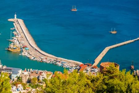 city harbor of Alanya, Antalya, Turkey photo