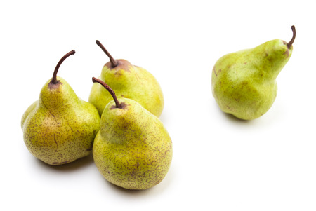 Four Pears isolated on a white background Stock Photo - 22836156