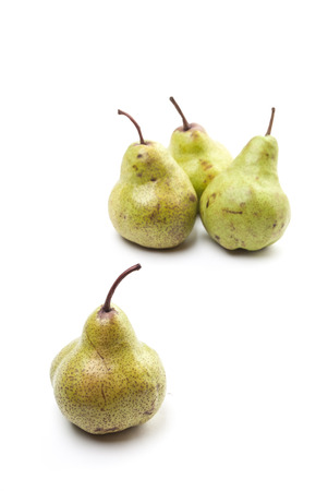 Four Pears isolated on a white background photo