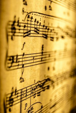 partition musique: Partitions, cru, close up Banque d'images