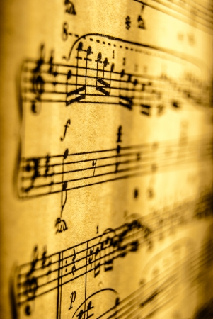 music score: Sheet Music, vintage, close up