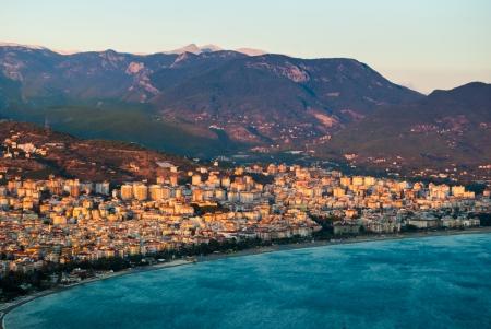 city harbor of Alanya at dawn, Antalya, Turkey