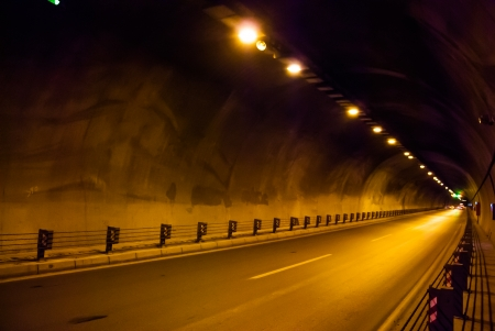road in the tunnel photo