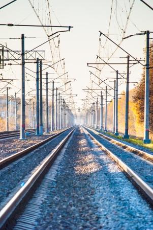 railtrack: landscape with railroad