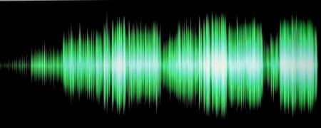 oscilloscope: colorful waveform