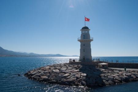 lighthouse in Alanya Reklamní fotografie - 24649613