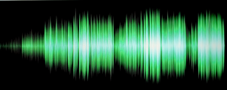 colorful waveform isolated on black Stock Photo - 24969730