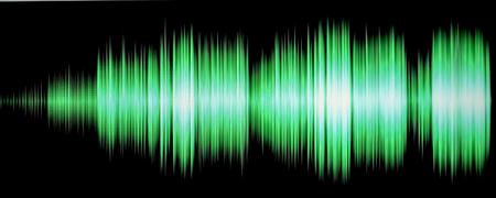 colorful waveform isolated on black Stock Photo - 24969730