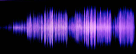 colorful waveform isolated on black Stock Photo - 24970343