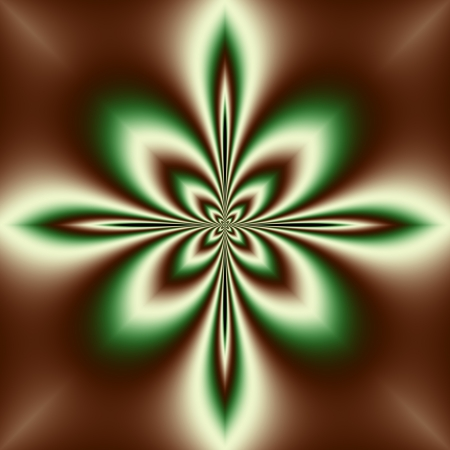 seamless background, star or flower, brown, green Stock Photo