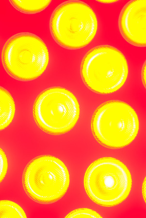 yellow circular disco light photo