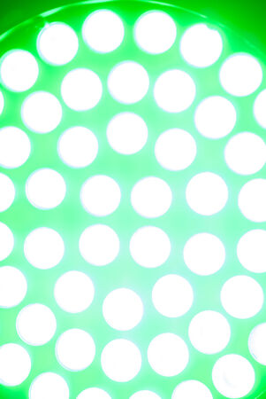 green circular disco light photo