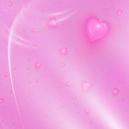 beautiful pink background with hearts photo
