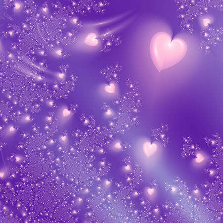 beautiful purple background with hearts photo