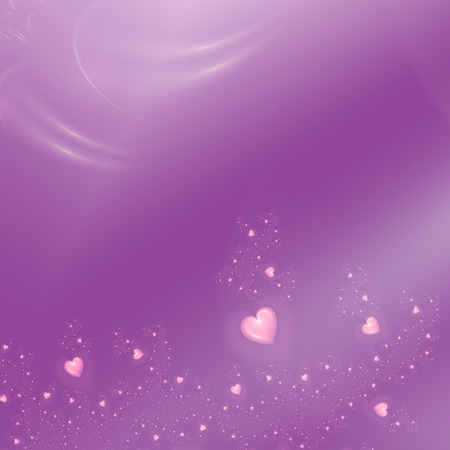beautiful purple background with pink hearts photo
