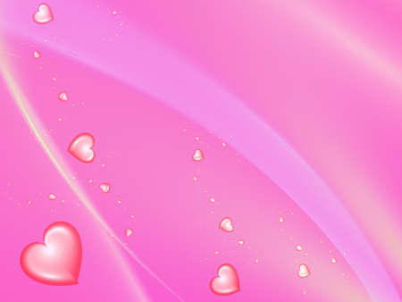beautiful red background with pink hearts photo