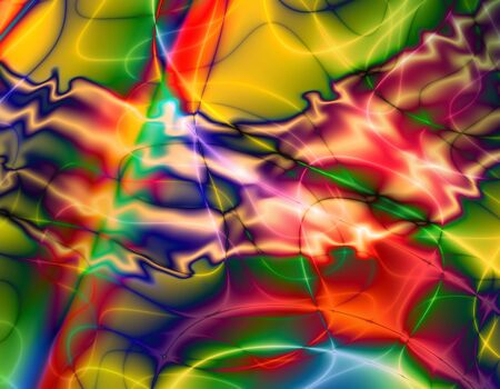 scorched: abstract colorful pattern based on fractal Stock Photo