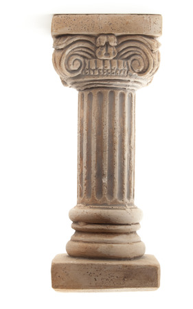Ionic column on white background Banque d'images