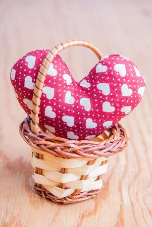 heart in basket photo