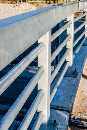 mounts: industrial background, mounts of newly constructed bridge