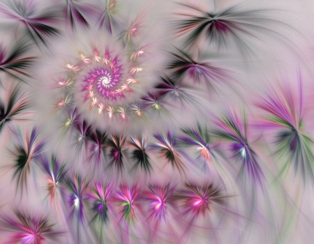 Stylized flower. Computer generated pattern. Useful as background or design element for images devoted to subjects of nature, beauty, cosmetics, etc. Stock Photo