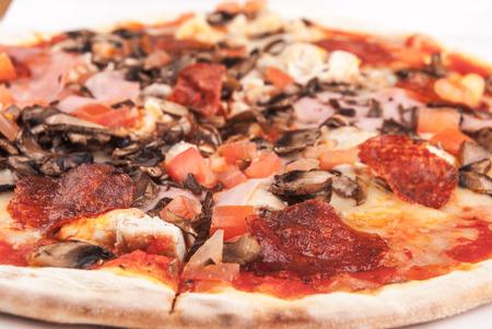 Pizza closeup photo