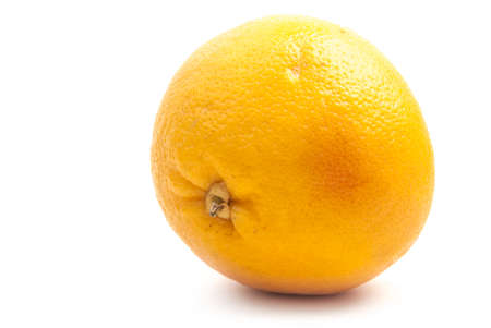 yellow grapefruit isolated on white photo