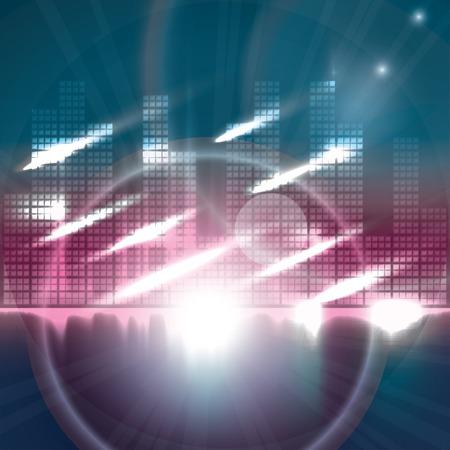 Digital Equalizer background. Vector illustration Vector
