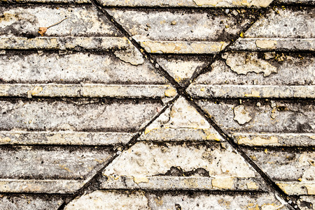 Street pavement texture with embossed lines photo