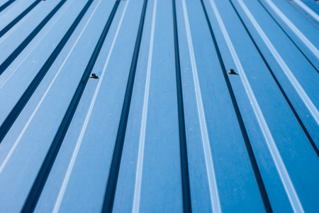 Blue grooved metal texture photo
