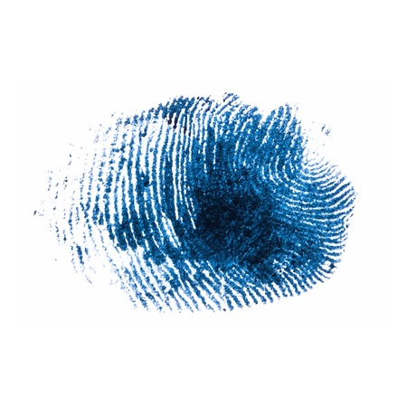 fingerprint pattern isolated on white Ilustrace