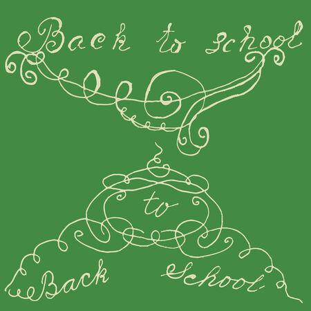ahogarse: Volver a la escuela. Mensaje de la mano se ahoga Vectores