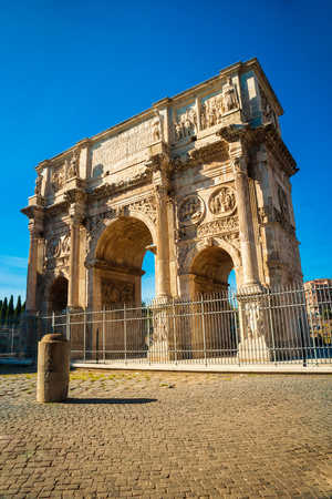 constantine: Arch of Constantine, Rome, Italy. Built to commemorate the emperors victory over his rival Maxentius in AD 312.