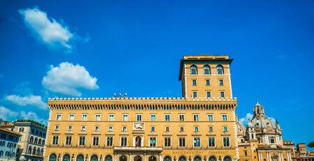 The Palazzo di Venezia in Rome, Italy. The Palazzo di Venezia is a palace in center of Rome, just north of the Capitoline Hill.